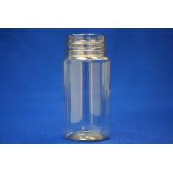 Frasco con tapón plástico transparente