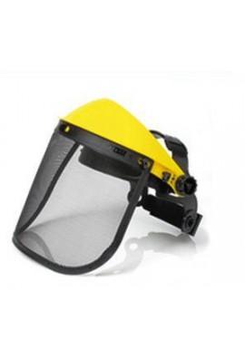 Visor protector facial con malla metalica