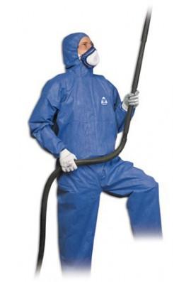 Buzo con capucha protección quimica