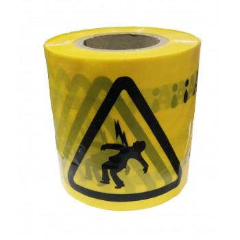 Cinta señalizacion amarilla 15 cm x 250 mt