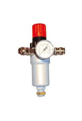 Regulador de presión, manómetro, filtro y enchufes rapidos