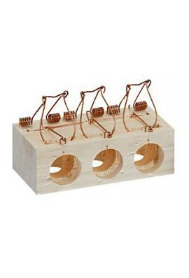 Ratonera madera (3 agujeros)