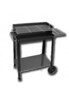 Barbacoa carbón con ruedas