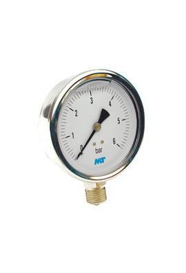 Manómetro DN 100 mm con glicerina