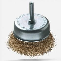 Cepillo metálico taza para taladro